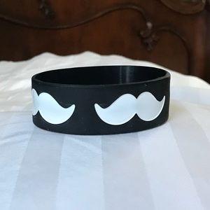 BUNDLE Fall Out Boy and mustache bracelet bundle